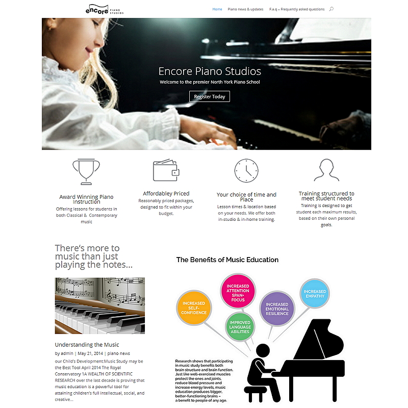 Music webdesigner freelance