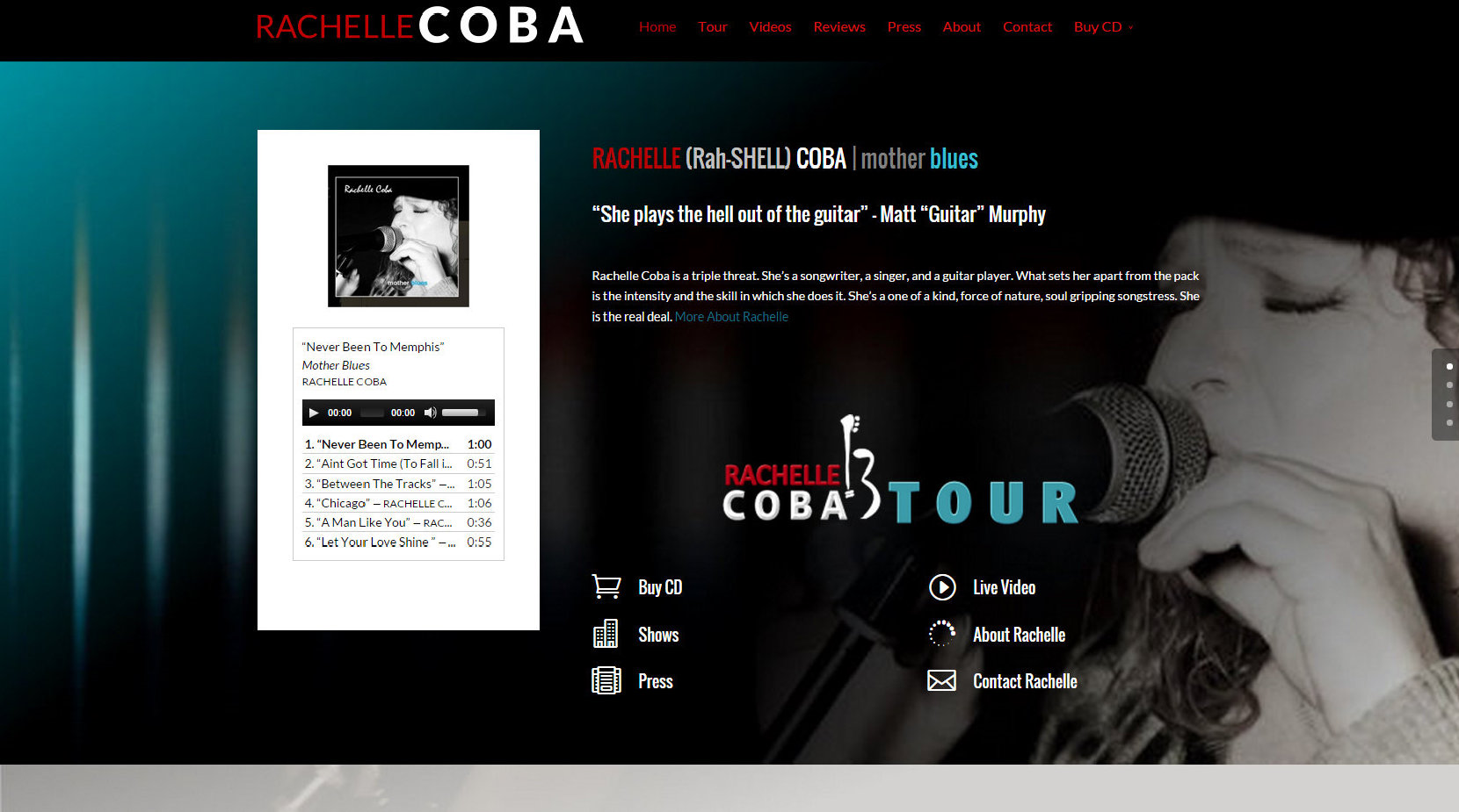 Blues Musician Website Design
