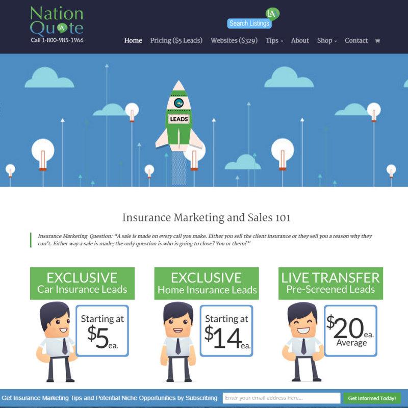 Insurance website design example