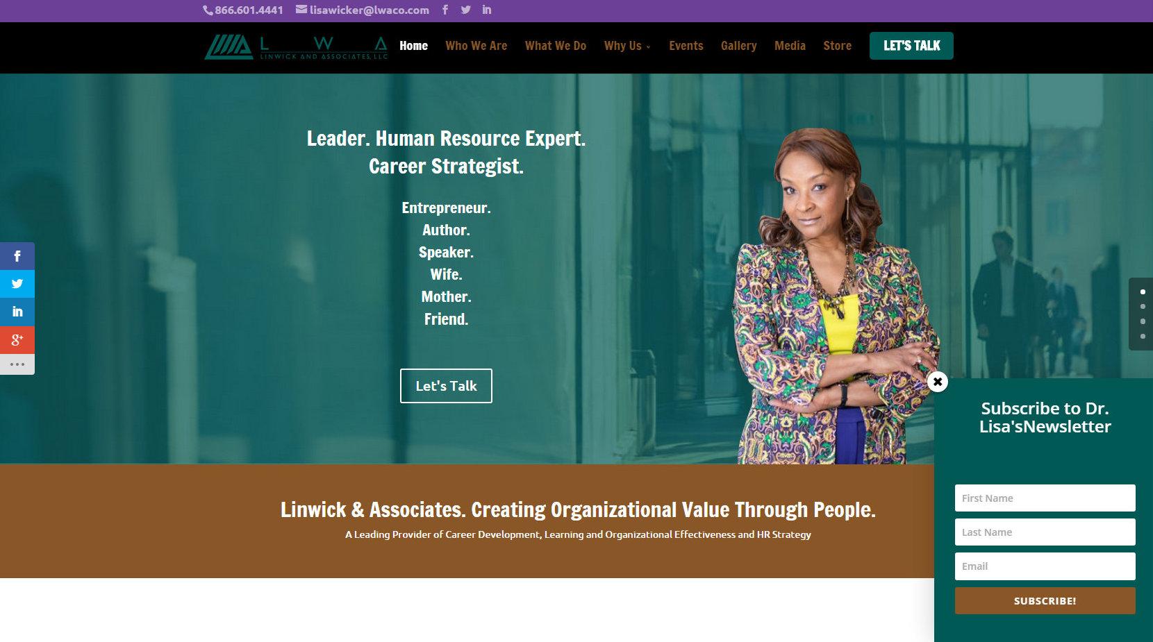 Business Life Coach Website Design