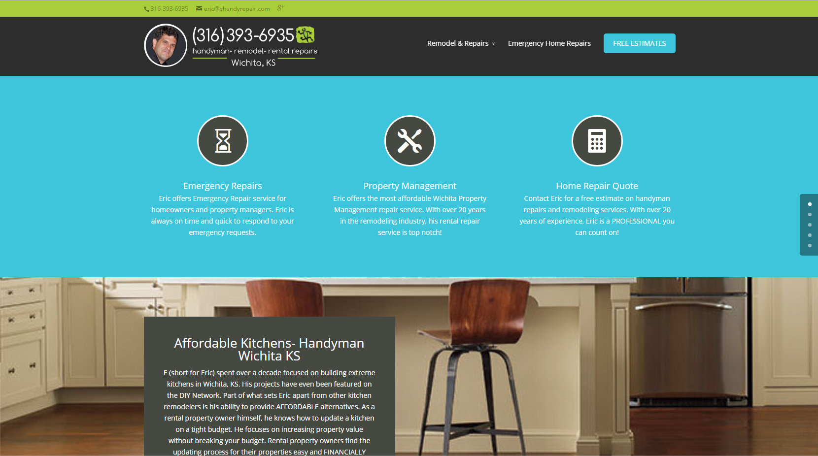 Handyman Wichita KS Website Design