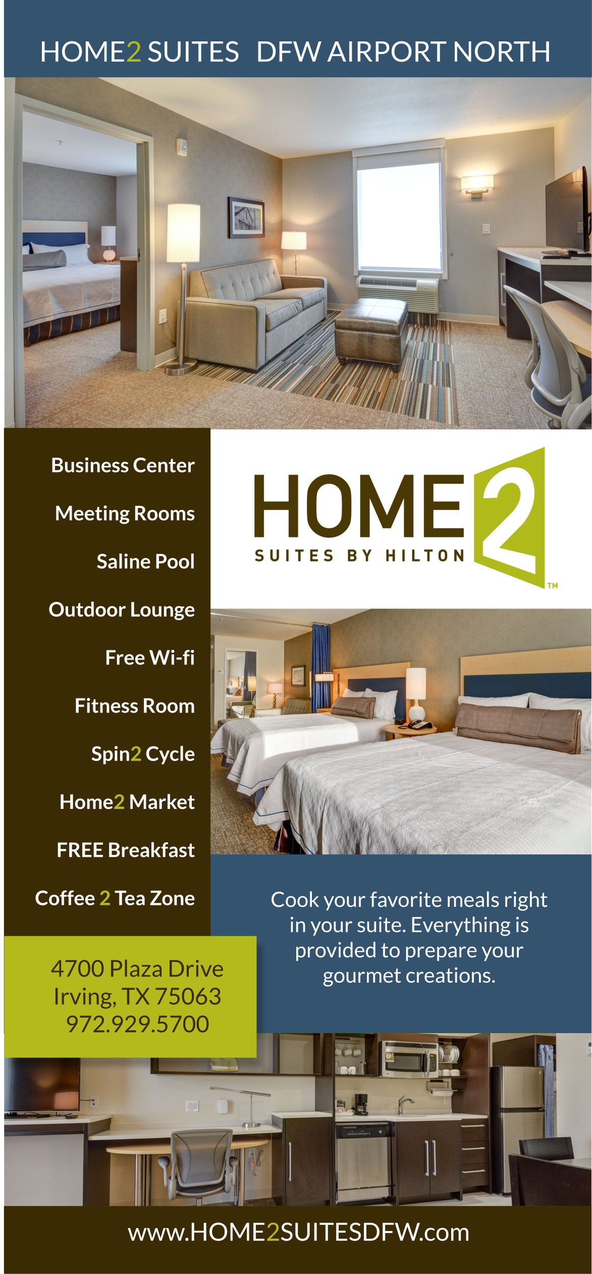 Hilton Hotel Rack Card - BIGlilFISH Divi Website Design with SEO